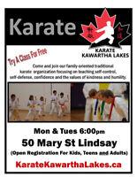 Fall Martial Arts Karate Classes Starting