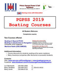 CPS (Prince George Power and Sail Squadron Courses