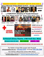 Bollywood Songs Concert Fort McMurray Fundraiser Sat May 28 2016