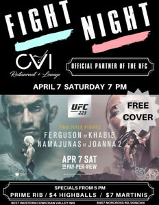 Fight Night @ CVI (Official Partner of the UFC)!!!