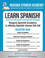 Learn Spanish this Fall 2016 !