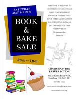 Book and Bake Sale Sat 7th May