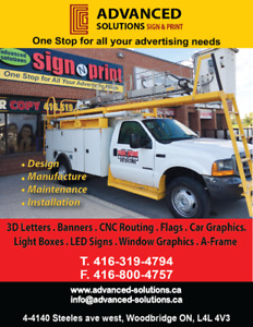 Sign Installation and services