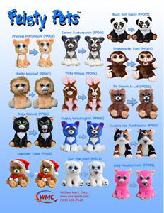 BRAND NEW FEISTY PETS PLUSH TOYS
