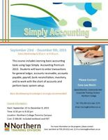 Simply Accounting Evening Classes - N. College