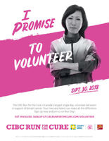 CIBC Run for the Cure Route Marshal Volunteers! Sept. 30