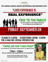 Sara Riel Inc. Annual Mental Health Networking and Resource Expo