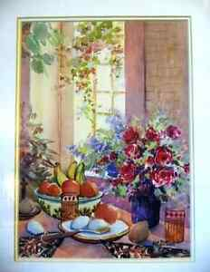 """A Morning Table by Nell LaMarsh """"Morning, By the Window"""" 1970's Stratford Kitchener Area image 2"""