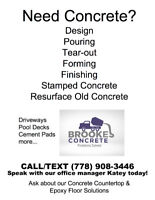 Brookes Concrete: Problems Solved! CALL TODAY FOR A QUOTE