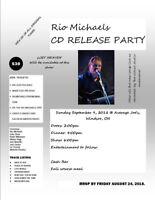 RIO MICHAELS CD RELEASE PARTY - WINDSOR ON