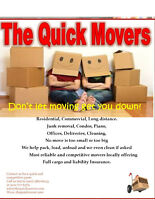 MOVING?? **SEPTEMBER SPECIAL** QUALITY & QUICK CALL/TEXT TO BOOK