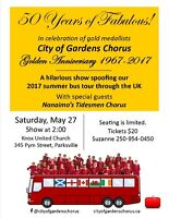 50 YEARS OF FABULOUS plays PARKSVILLE ~ a hilarious musical show