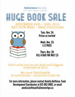 Alzheimer Society HUGE USED BOOK SALE!