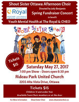 Shout Sister Concert for Youth Mental Health at Royal & CHEO