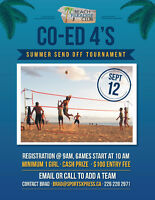 Co-Ed Beach Volleyball 4's Tournament