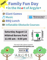 Family Fun Day in the Heart of Argyle - Volunteers!
