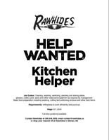 Kitchen Helper Wanted Help