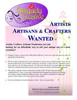 Artists, Artisans, Crafters, Tradesmen Wanted for Artisan Store