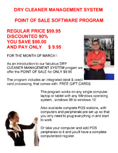 UPGRADE YOUR DRY CLEANER WITH A  POS SYSTEM !
