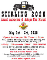 STIRLING AUTOMOTIVE FLEA MARKET 2020 May 2 - May 3, 2020
