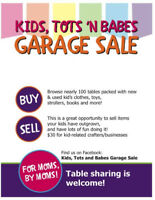 Kids Tots and Babes Garage Sale