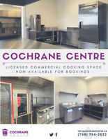 Provincially licensed commercial kitchen available for rent!