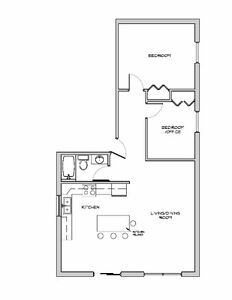 $1400 1Bdrm + Office All Inclusive - Brand New!