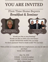 FREE First Time Home Buyers Seminar Breakfast!