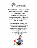 Connections Family Centre Free Short Term Child care