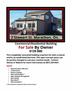 Commercial and/or Residential Building for Sale