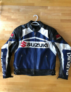 MEN'S MOTORCYCLE CUSTOM LEATHER JACKET (USED)