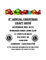 8TH ANNUAL CHRISTMAS CRAFT SHOW