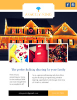 The perfect holiday cleaning for your family