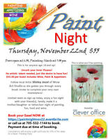 Uncork your inner Picasso! At The Clever Office Paint Night!