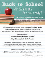 Essential Oils &Back to School Education Class