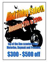 $300-$500 off - BLACK FRIDAY/SATURDAY CRAZINESS!!!  at E-Ride