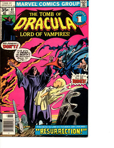 Tomb Of Dracula #1 and other issues