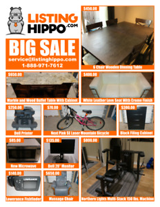 Dining Table, Love Seat, Mountain Bike, Filing Cabinet for Sale