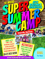 SUPER SUMMER CAMP - FULL DAYS & HALF DAYS AVAILABLE