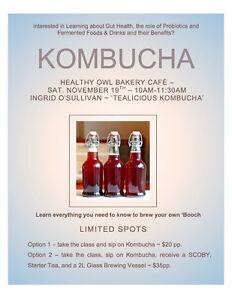 Kombucha 101 Workshop - Waterloo Sat Nov 19th, 2016 Kitchener / Waterloo Kitchener Area image 1