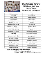 Young Tigers Karate for 4-6 year olds