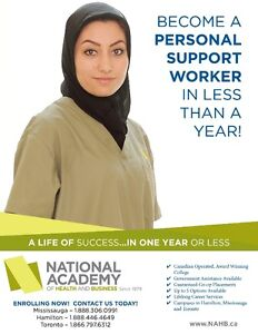 Become a Personal Support Worker in 6 Months (Hamilton)