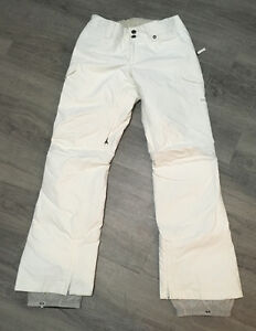 Women's White Burton Snow Pants Size Small