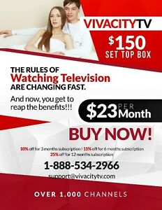 OVER 1,000 CHANNELS FOR ONLY $23/MONTH - IPTV
