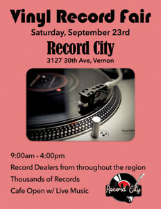 Record City Vernon is hosting another Record Fair September 23!!