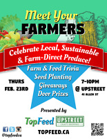 TopFeed.ca presents: Meet Your Farmers at Upstreet