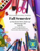 September Full Time Semester MSA