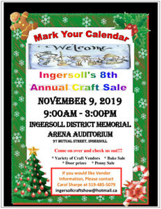 Ingersoll 8th Annual Craft Show