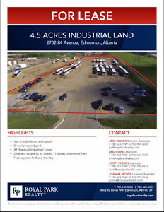 4.5 Acres Industrial Land for Lease