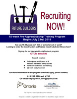 FREE-Pre Apprenticeship Training and WORK in Ottawa!